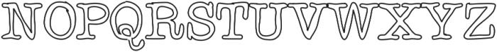 Chispa ttf (400) Font UPPERCASE
