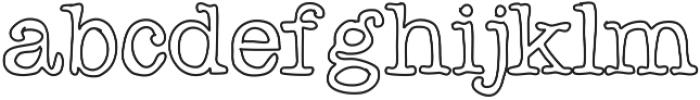 Chispa ttf (400) Font LOWERCASE