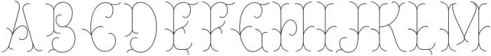 Chivels Inner otf (400) Font UPPERCASE