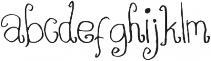 Chocofloat ttf (400) Font LOWERCASE