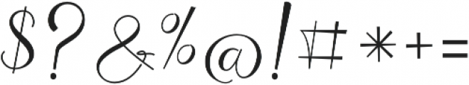 Chocolate Milky otf (400) Font OTHER CHARS