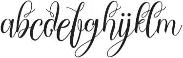 Chocolate Milky otf (400) Font LOWERCASE