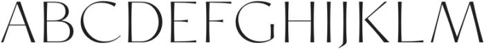 Chopard ExtraLight otf (200) Font UPPERCASE
