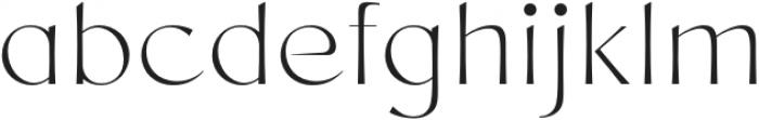 Chopard ExtraLight otf (200) Font LOWERCASE