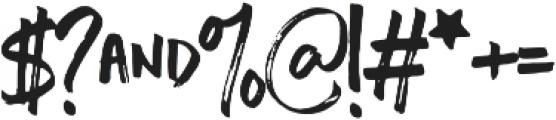 Chopshop otf (400) Font OTHER CHARS