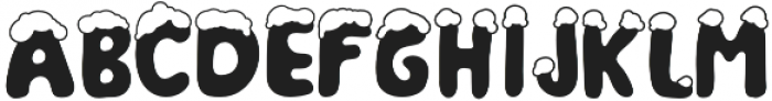 Christmas Snow otf (400) Font LOWERCASE