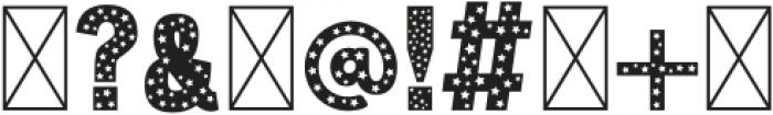 Christmas Stars Regular otf (400) Font OTHER CHARS