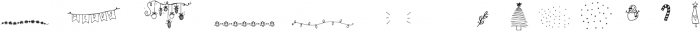 Christmas Symbols Symbols otf (400) Font UPPERCASE