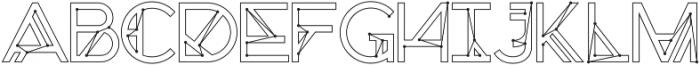 Chronic Cosmos otf (400) Font UPPERCASE