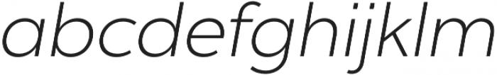 Chronica Pro Light Italic otf (300) Font LOWERCASE