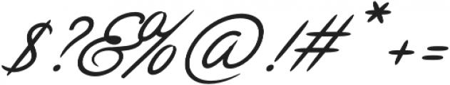 Chulia Italic otf (400) Font OTHER CHARS