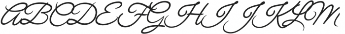 Chulia Italic otf (400) Font UPPERCASE