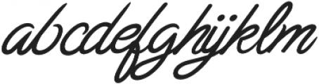 Chulia Italic otf (400) Font LOWERCASE