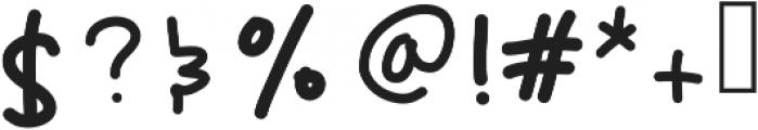 ChunkyMonkey ttf (400) Font OTHER CHARS