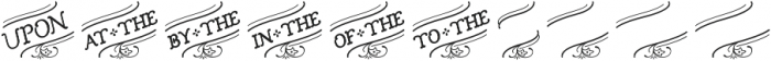 Church in the Wildwood Catchwords Inspired 1 otf (400) Font LOWERCASE