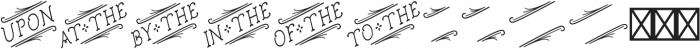 Church in the Wildwood Catchwords Regular 2 otf (400) Font LOWERCASE