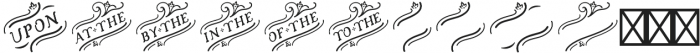 Church in the Wildwood Catchwords Regular 3 otf (400) Font LOWERCASE