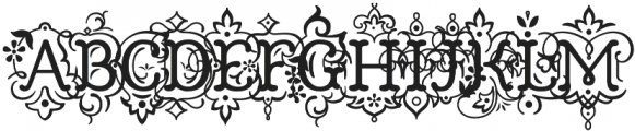 Church in the Wildwood Inspired Regular + Swashes otf (400) Font UPPERCASE
