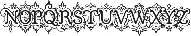 Church in the Wildwood Inspired Regular + Swashes ttf (400) Font UPPERCASE