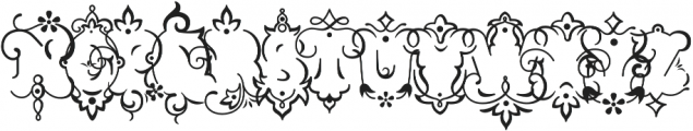 Church in the Wildwood Inspired Swashes Only otf (400) Font UPPERCASE