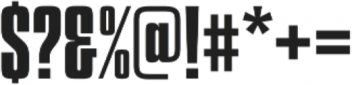 Churchward 69 Bold otf (700) Font OTHER CHARS