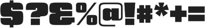 Churchward 69 UltraBlack otf (900) Font OTHER CHARS