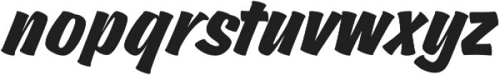 Churchward Brush Italic otf (400) Font LOWERCASE