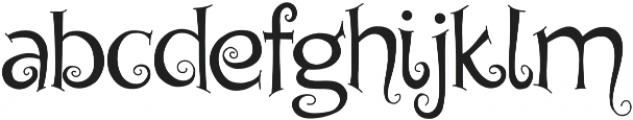 Chyga otf (400) Font LOWERCASE