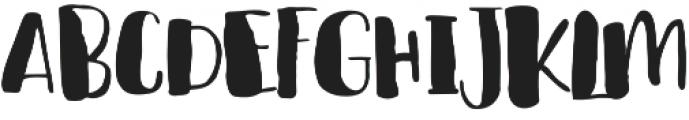 cHocolava Regular otf (400) Font UPPERCASE
