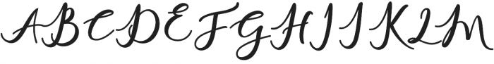 charlinda Regular otf (400) Font UPPERCASE