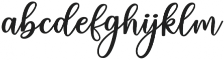 charlinda Regular otf (400) Font LOWERCASE