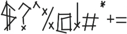 chopsticks otf (400) Font OTHER CHARS
