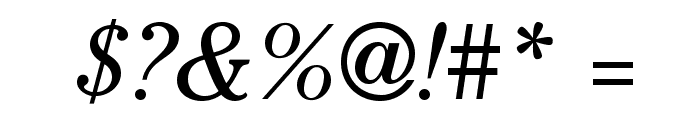 CheltenhamStd-BookItalic Font OTHER CHARS
