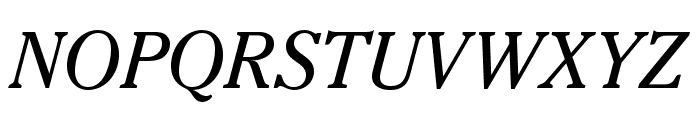 CheltenhamStd-BookItalic Font UPPERCASE
