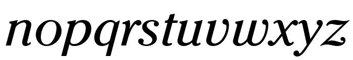 CheltenhamStd-BookItalic Font LOWERCASE