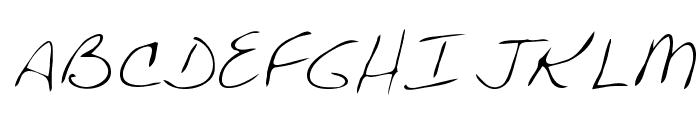 Chris Regular Font UPPERCASE