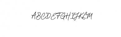Chandelier Signature Font UPPERCASE