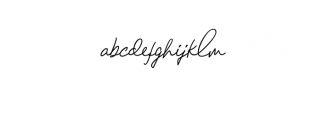 Chandelier Signature Font LOWERCASE