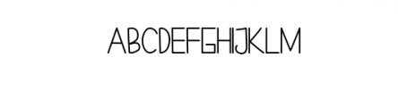 CheeksRosy-Sans.otf Font UPPERCASE