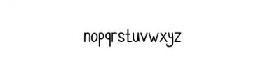 CheeksRosy-Sans.otf Font LOWERCASE