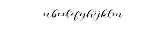 CheeksRosy-Script.otf Font LOWERCASE