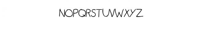 Child's Brush Font UPPERCASE