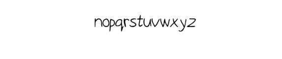 Child's Brush Font LOWERCASE