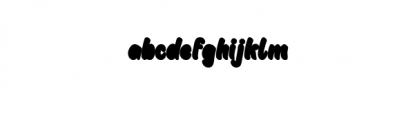 Childish Block.otf Font LOWERCASE