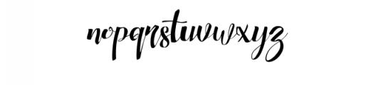 Chocolate Heart Script Font Font LOWERCASE