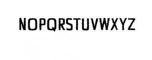 Chrys-Distorted.otf Font UPPERCASE