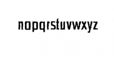 Chrys-Distorted.otf Font LOWERCASE