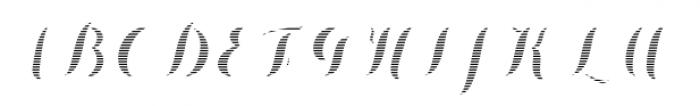 Chameleon Fill Stripe 2 Font UPPERCASE