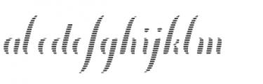 Chameleon Fill Stripe 2 Font LOWERCASE