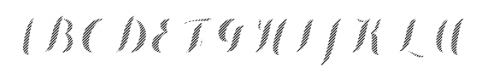 Chameleon Fill Stripe 4 Font UPPERCASE